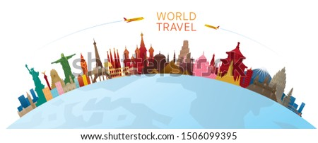 world skyline curve landmarks