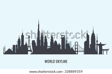 world skyline silhouette