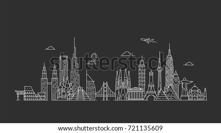 world skyline travel and