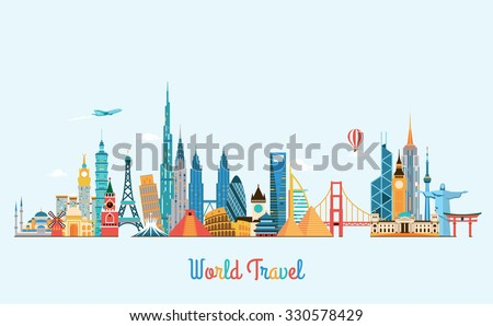 world skyline travel and