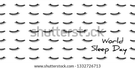 World sleep day March 14 Dream day shhh silent please be quiet please silence sleeping Face mute Fun funny vector International holiday sheep good night Pajamas time Lazy Day asleep counting sleepy