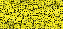 World smile day by happy, smiling everyday National big happiness Fun thoughts emoji face emotion smiley lip symbol Draw smiling lips, mouth, tongue Funny vector laugh cartoon comic tiktok pattern