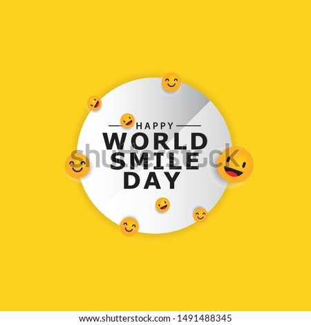 World smile day design template