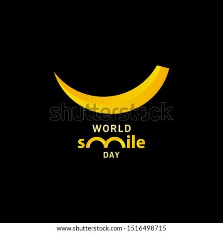 world smile day gradient design vector template illustration