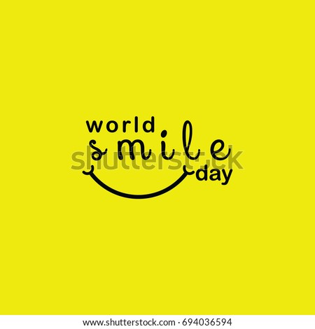 World Smile Day Logo Vector Template