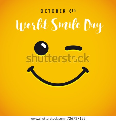 stock-vector-world-smile-day-october-th-banner-winking-smiley-and-lettering-world-smile-day-on-yellow