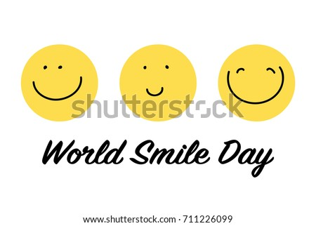 world smile day three yellow