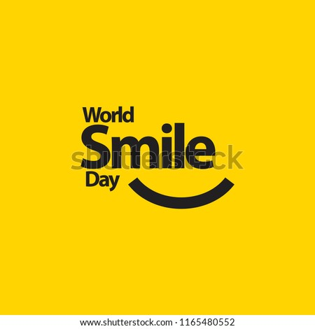 World Smile Day Vector Template Design Illustration