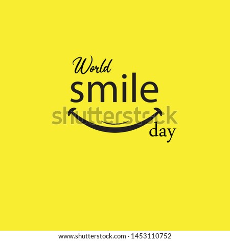World Smile Day Vector Template Design Illustration
