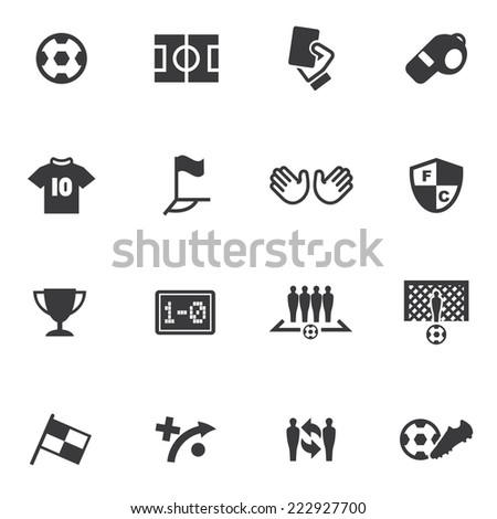 world soccer silhouette icons 1
