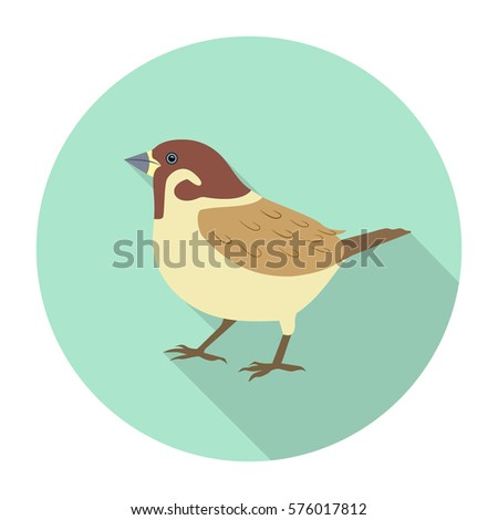 World Sparrow Day. Vector illustration of the date of sparrows. Cute sparrow card for world sparrow day. Icon sparrow