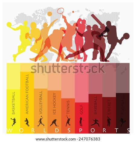World Sport Isolate Action Icon Set Design Template #247076383