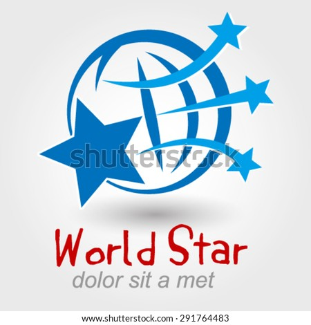 world star logo element