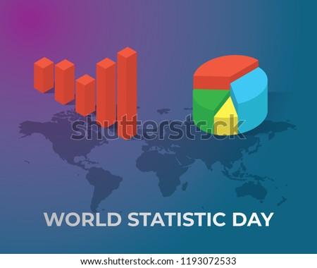 world statistic day illustration world statistic day illustration vector ,statistic day illustration vector