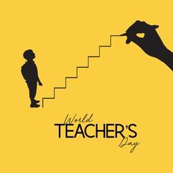 World Teacher's Day Art Illustration