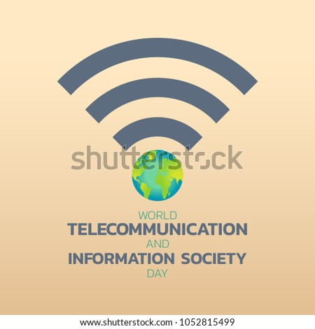 World Telecommunication Day logo icon design, vector illustration