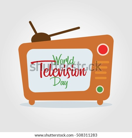 World Television Day Vector Illustration. Suitable for greeting card, poster and banner.
