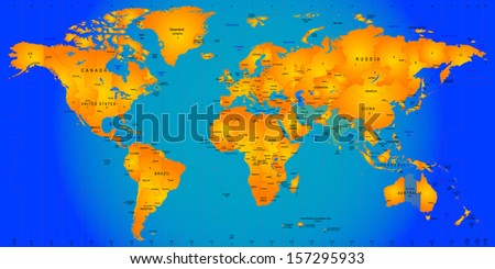 world timezone map vector illustration - stock vector
