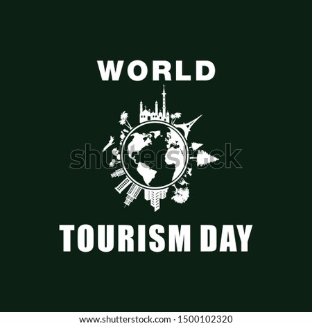 world tourism day design vector