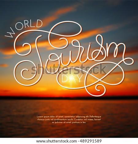 world tourism day hand