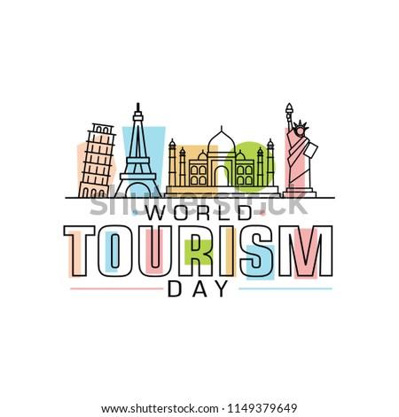 World Tourism Day logo vector illustration