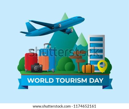 world tourism day tourism day illustration world tourism day vector illustration