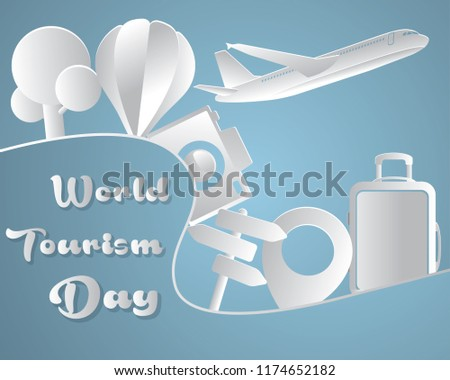 world tourism day tourism day illustration world tourism day vector paper art