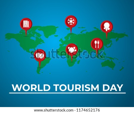 world tourism day tourism day illustration world tourism day world map island vector design