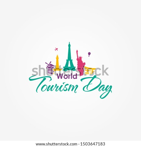 World Tourism Day Vector Design Template