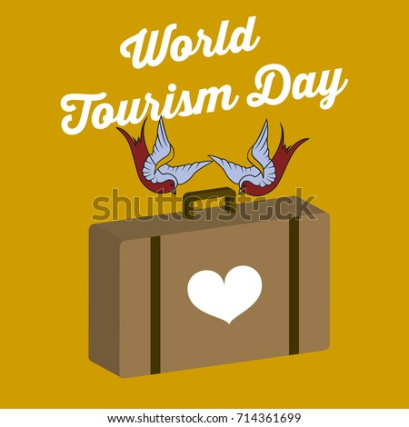 world tourism day vector...