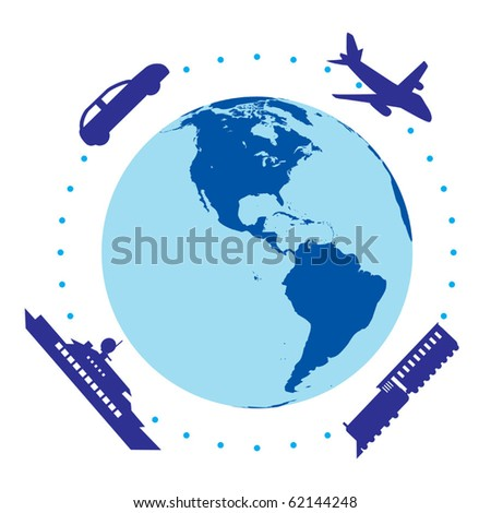 World transportation vector