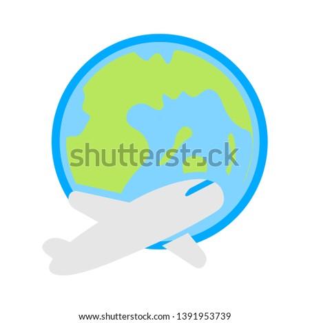 world travel icon - flat Vector icon - illustration of Business Travel icon
