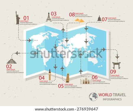 world travel info graphics
