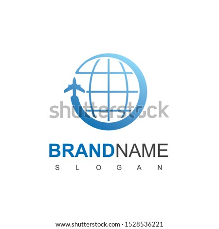 World Travel Logo Design Template
