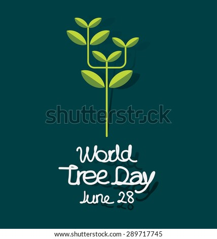 world tree day concept vector