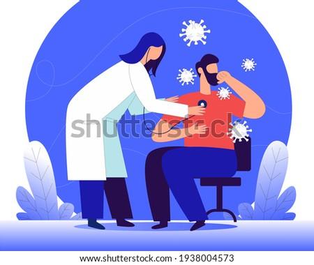 World Tuberculosis day illustration concept vector, international tuberculosis day  Stock photo ©