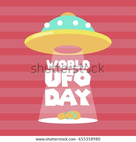 World UFO Day Vector Illustration. Suitable for poster, banner, campaign, and greeting card