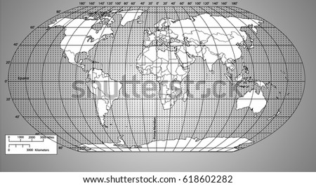 World map with latitude and longitude download free vector art world vector map with countries and graticule gumiabroncs Choice Image