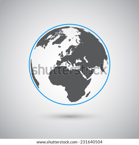 world vector symbol  flat