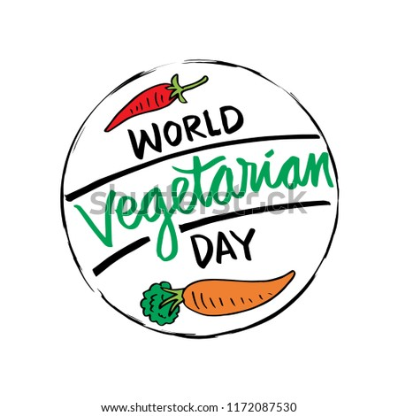 World Vegetarian Day poster.