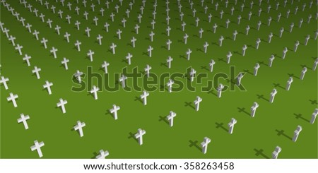 world war 2 cemetery vector