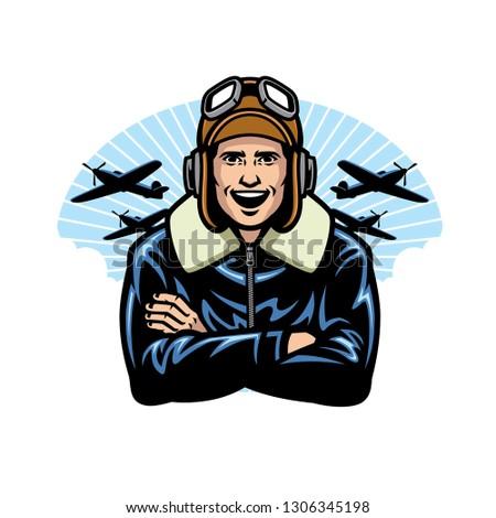 world war pilot smiling