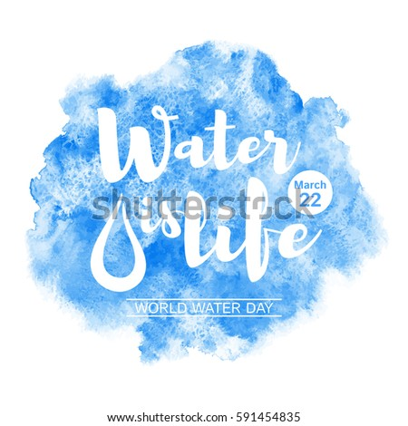 world water day watercolor