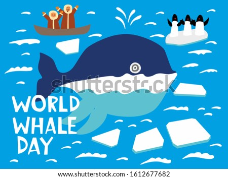 world whale day holiday card