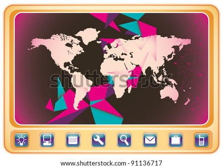 World wide technology poster. Vector illustration.