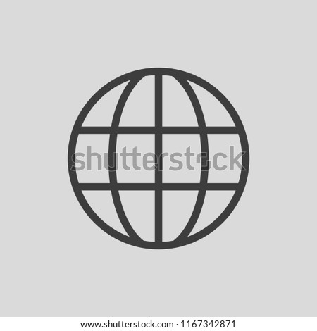 World Wide Web Icon. Vector Line Logo illustration. Browser symbol. Editable Stroke