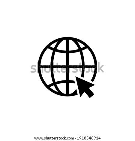 World wide web icon vector. Website icon symbol illustration
