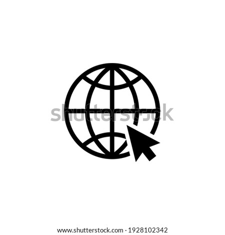 World Wide Web line icon vector. Go to web icon symbol illustration