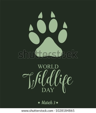 World Wildlife Day card or background. vector illustration.