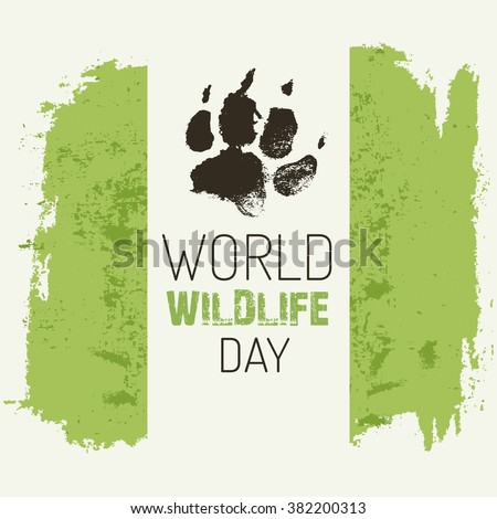 world wildlife day vector